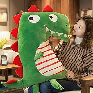 Mjia pillow Almohada de Felpa para bebé/niño/niños/Adultos,Peluche Grande y Super Suave,Almohada de Dinosaurio Suave de Gran tamaño,decoración de sofá,Verde,100CM