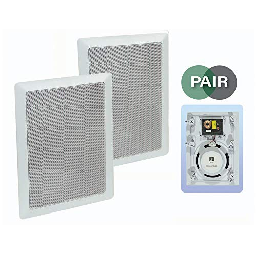E-audio White 6.5' 2-Way 120W In-Wall Speaker With Driver and Tweeter...
