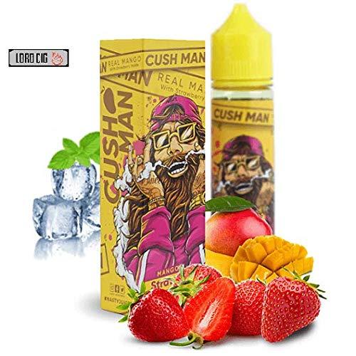 cush Man by nasty juice e Liquid Fruity 60ml shortfill Capacity Vape Oil with Child Lock E Liquid Fits All E Cigarettes Starter Kits 70VG/30PG No Nicotine (Mango Strawberry)
