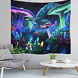 Yeephp Seta Psicodélica Planta Universo Planeta Galaxia Tapiz Adecuado Para Habitación Dormitorio Sala De Estar Artista Decoración De La Pared Del Hogar