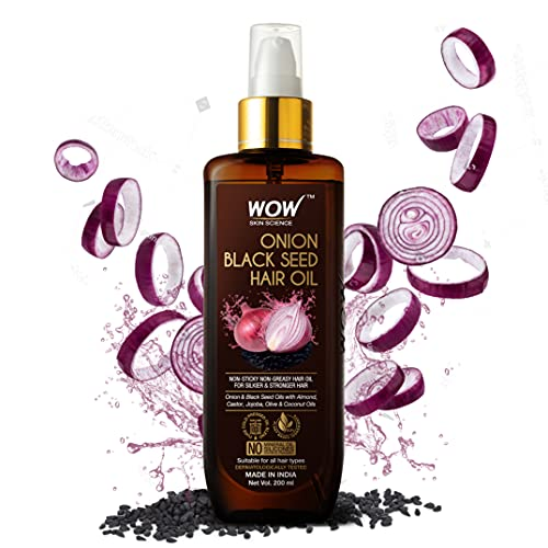 WOW Skin Science Onion Hair Oil With Black Seed Oil Extracts - Controls Hair Fall - No Mineral Oil, Silicones & Synthetic...