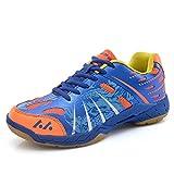 FJJLOVE Mesa De Ping Pong Unisex Zapatos, Usable Bádminton Zapatos Antideslizantes De Ping-Pong Calzado Transpirable Zapatillas Deportivas Zapatos,Azul,38
