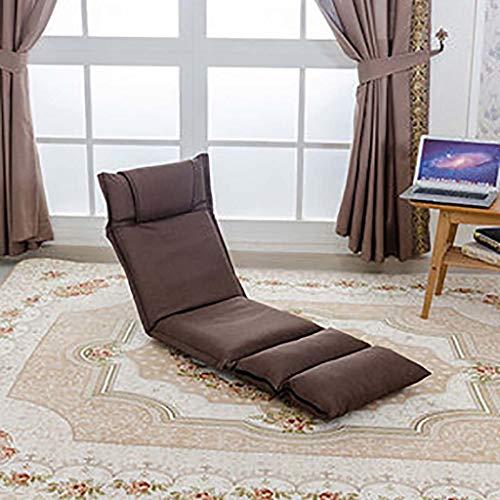 JY&WIN Japanse Opvouwbare Vloer Stoel, 14-slechte Verzoek Verstelbare Baai Raam Stoel Ademende Meditatie Stoel Tatami Lazy Ligstoel Voor Volwassenen