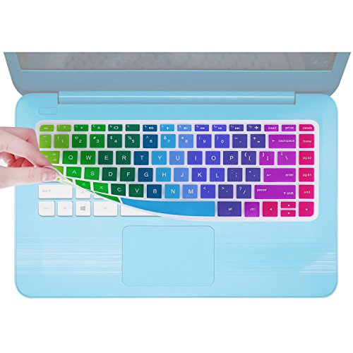 Keyboard Cover Compatible with HP Stream 14 Inch Laptop /2018 2017 HP Stream 14 Inch /14 Inch HP Pavilion 14-ab 14-ac 14-ad 14-al 14-an Series -Rainbow