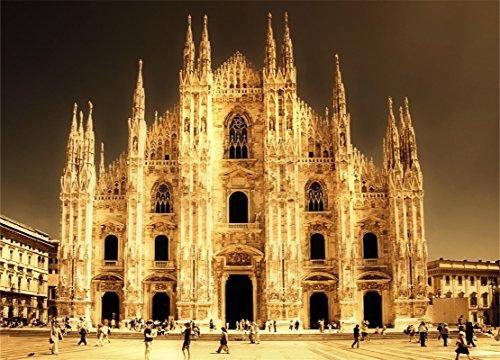 AOFOTO 8x6ft Retro Church Backdrops Duomo di Milano Photography Background Adult Travel Artistic Portrait Ancient Cathedral European Building Photo Shoot Studio Props Video Drop Seamless Vinyl