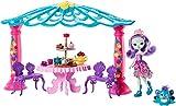 Enchantimals Coffret Le Salon de Thé, Mini-poupée Patter Paon et Figurine Animale Flap avec pergola, table, chaises et accessoires, jouet enfant, FRH49