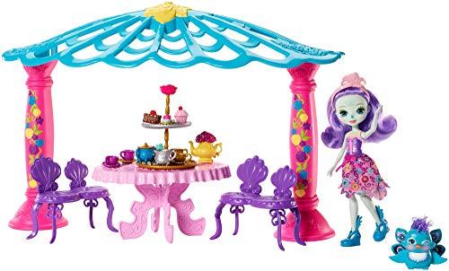 Enchantimals Coffret Mini muñeca–El salón de The de Mme pavo real (Mattel FRH49)