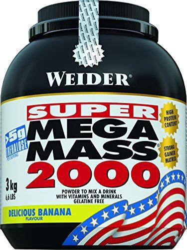 Weider Mega Mass 2000 Plátano - 3000 gr