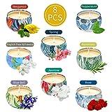 8Piezas Vela Perfumadas Candle Velas Decorativas Aromaterapia Velas Aromaticas Juego 100%Cera de...