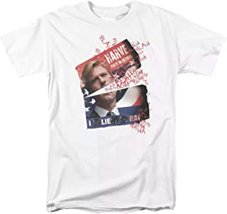 Dark Knight Harvey Two Face Campaign White T-Shirt Tee