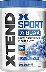 XTEND Sport BCAA Powder Blue Raspberry Ice - Electrolyte Powder for Recovery & Hydration with Amino