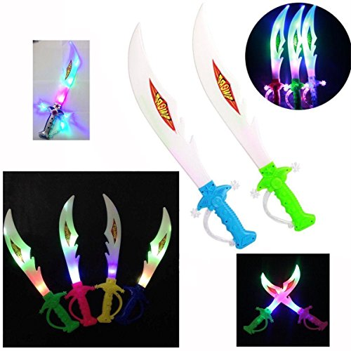 Kinderen LED oplichten NINJA SWORD -rol spelen, acteren, Dressing Up, partijen 38 cm & LED sleutelhanger TORCH