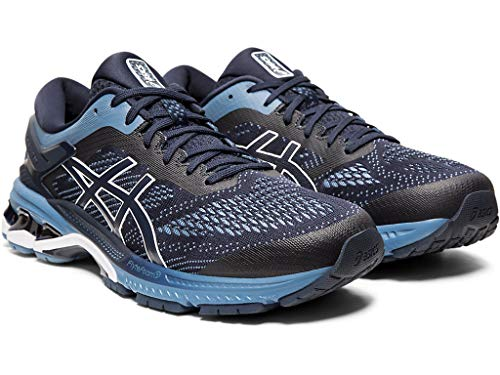 ASICS Men's Gel-Kayano 26 (2E) Running Shoes, 10W, Midnight/Grey Floss 2