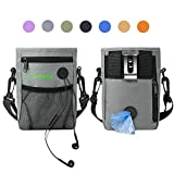 SOMEITY Dog Treat Pouch for Training, Built-in Poop Bag Dispenser, Easily Carries Pet Toys, Kibble and Treats, Running Waist Bag, Fanny Pack