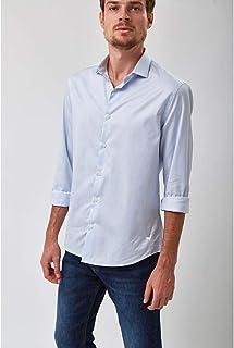 Camisa Listra Fio 80 - Azul