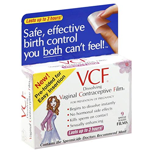 VCF Vaginal Contraceptive Film, Single Sealed Films, 9 ct.