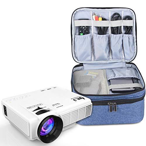 Luxja Beamertasche für Mini Beamer, Projektor Tasche Kompatibel mit APEMAN, QKK, DR.Q und Andere Mini- Beamer und Zubehör, 23 cm x 19 cm x 10 cm, Blau