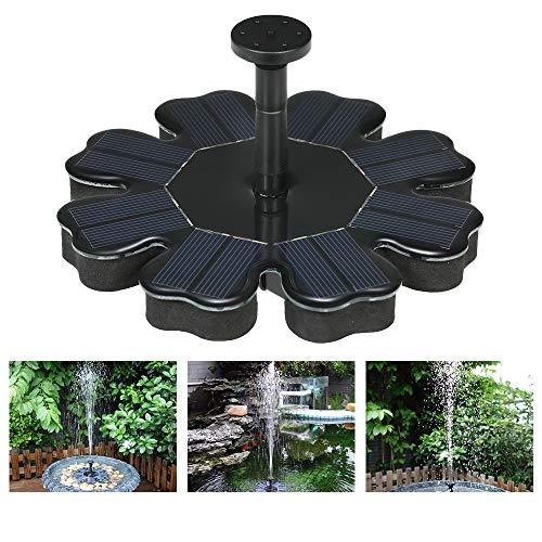 Festnight Solarbetriebene Brunnen Solar-Wasserpumpe Birdbath-Brunnen-Pumpe mit Abnehmbarer Wasserpumpe 4-Level-Wasserstrom Solarbetriebene Brunnenpumpe Dekorative schwimmende Brunnen