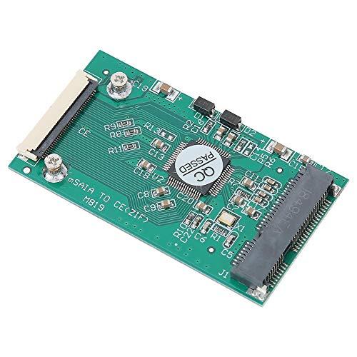 ASHATA Solid-State-Drive-Adapterkarte, Riser-Karte Grün ABS MSATA auf CE/ZIF SSD Solid-State-Drive-Adapter Computerzubehör, für Dell und passend für Fujitsu