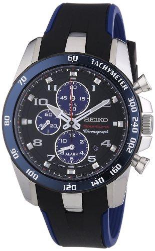 Seiko Sportura SNAE91P1 - Reloj de Pulsera para Hombre (cronógrafo, Cuarzo, plástico)