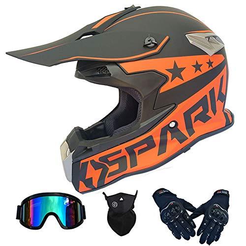 Casco integral de motocross Cascos backflip para motocicleta para adultos DOT Certified...