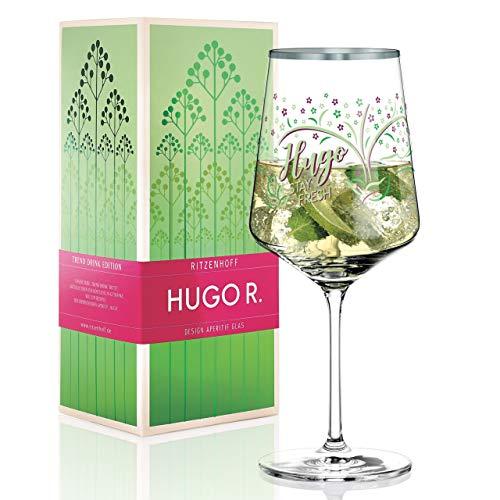 RITZENHOFF Hugo R. Aperitifglas von Shinobu Ito, aus Kristallglas, 600 ml, mit edlen Platinanteilen