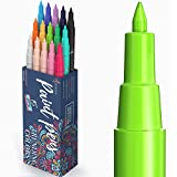 ARTISTRO rotuladores de pintura acrílica bolígrafos acrílicos - 15 colores - 0.7 mm rotuladores acrílicos punta fina para piedras, metal, madera, vidrio, taza de bricolaje - Acrylic Paint Pens