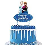 1 count Cake Topper Decorations for Frozen Ice Birthday Party Topper for Children Includes: 1 big cake topper for Ice Frozen. Size: 7.1 x 6.5 inches. Material: 100% white food grade paper stick and paper card. 【Notice】Need to be stuck manually. Produ...