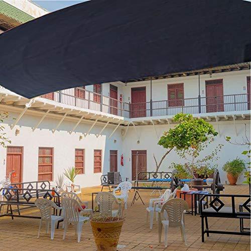 BJYXSZD Tarpaulin Toldos, para Antideslizante Sombra De Patio En La Azotea PañOs Suministros De JardineríA (Size : 2X2M),Black-5 * 7