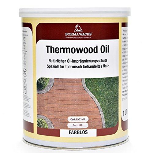 Borma Wachs 1 Liter Thermowood Natur Thermoholz Öl Holzöl (Farblos - 00)