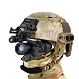 WLXW Accesorios de Casco, Pistola de Aire Táctico Kit de Instalación de Casco Militar Casco Instalación de NVG Gafas de Visión Nocturna PVS14 PVS7,Black