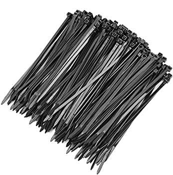 OneLeaf Cable Ties 6 Inch Heavy Duty Zip Ties with 40 Pounds Tensile Strength for Multi-Purpose Use Self-Locking UV Resistant Nylon Tie Wraps Indoor and Outdoor Tie Wire 200 Pcs Black