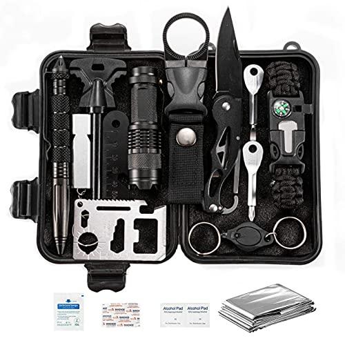 Kit de supervivencia 15 en 1, regalos para hombres, papá, esposo, día del padre, pesca, caza, cumpleaños, regalos, ideas para él, novio, adolescente, dispositivo de relleno, equipo de supervivencia,