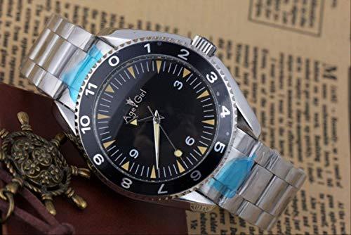 GFDSA Herren Automatik Automatik Automatik Edelstahl Stoff Leinwand Armband James Bond 007 Spectre Uhr 44mmStahl
