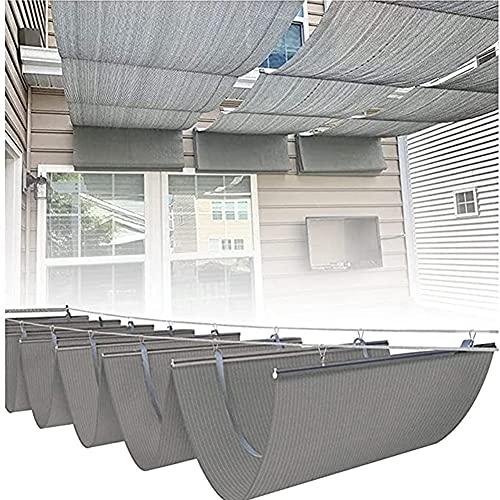 GZHENH Cubierta De Sombra De Dosel De Pérgola Retráctil, Anti-UV Transpirable Y Sombreado Vela De Sombra Solar Terraza Plataforma Patio Interior Instalaciones Al Aire Libre