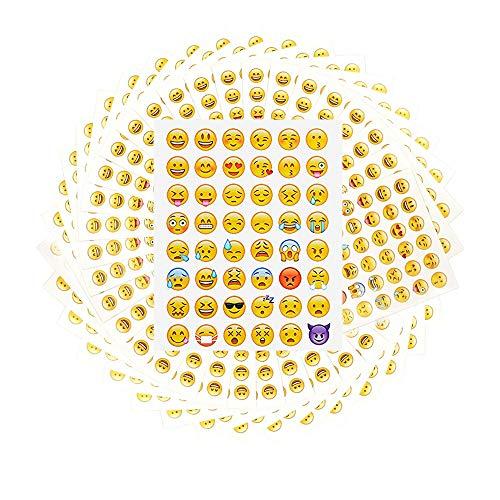 Emoji Aufkleber 100 Blätter 4800 Nette lustige Sticker Glückliche Gesichter Kid Aufkleber von Phone Facebook Emoticon Deko Modische Geschenke für Kinder Erwachsene