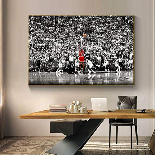 DHLHL Pallacanestro Moderna Fotografia Tela Pittura Poster e Stampa Arte della Parete Jordan NBA Immagine di Gioco per Soggiorno Decorazione Domestica 60x90cm Senza Cornice
