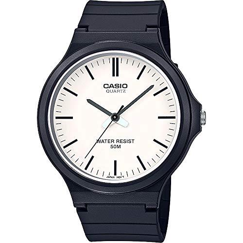 CASIO Unisex Erwachsene Analog Quarz Uhr mit Harz Armband MW-240-7EVEF