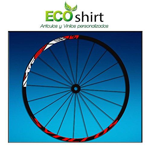 Ecoshirt 9M-BYSP-LA57 Aufkleber Stickers Felge Rim DT Swiss Syncross Xr25 MTB Downhill, Rot 29 Zoll