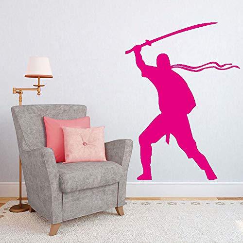 Kunst Wanddekor Abnehmbare Vinyl Aufkleber Krieger Wandaufkleber Für Wohnzimmer Kinder Dekorationen Solider Armee Kreatives Design Poster ~ 1 58 * 80 cm