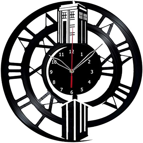 Handmade Doctor Who Vinyl Record Wall Clock Fan Art Decor Unique Decorative Vinyl Clock 12 30 Cm