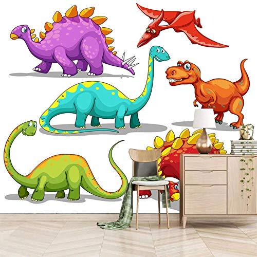 SJKstore Papel pintado mural 3D Dibujos animados, dinosaurio, animal 250x175CM Mural de pintura decorativa extraíble, autoadhesivo, adhesivo de pared, sala de estar, dormitorio, oficina, baño, decorac