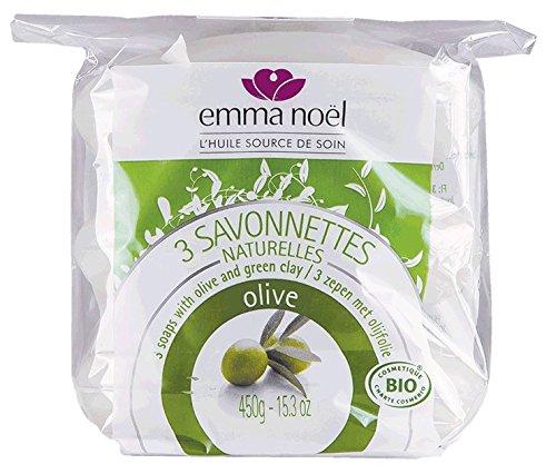 emma noël 3 Savonnettes Olive Cosmébio 450 g
