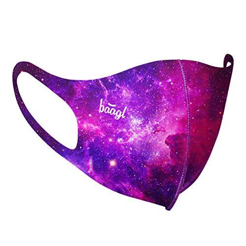Mund und Nasenschutz Waschbar mit Galaxie Motiv, Mundschutz Maske für Damen, Schutzmaske Stoffmaske (Galaxy - Erwachsene)