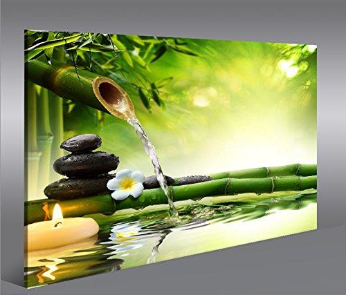islandburner Cuadro en Lienzo Wasser Zen V3 1p Impresión sobre Lienzo - Formato Grande - Cuadros Modernos