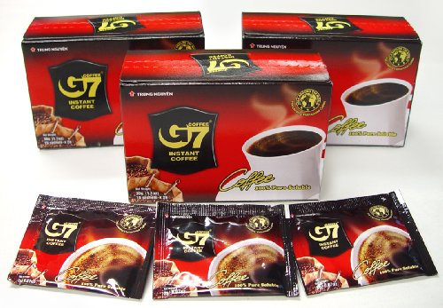 G7 pure black coffee, 3-pack, 45 Servings 100% Pure Instant Coffee