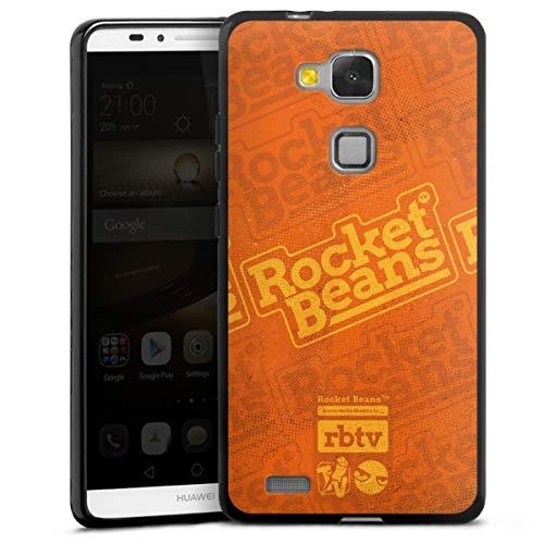 DeinDesign Silikon Hülle kompatibel mit Huawei Ascend Mate 7 Hülle schwarz Handyhülle Rocket Beans TV YouTube Youtuber