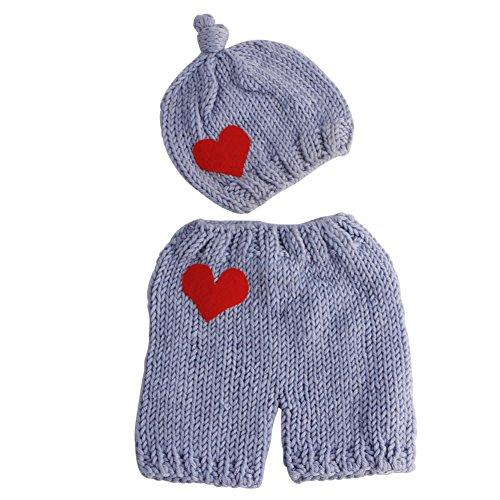 VIccoo Traje de Punto, Nacido Baby Boys Girls Cute Crochet Prop Outfits Photo Photography