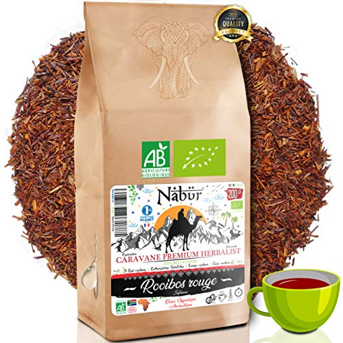 Nabür - Rooibos Tè Rosso Organico 200Gr  Roibos Ricco, Delicato, Rilassante, Certificato Organico  Sud Africa, 0% Teina  PREZZO D INGRESSO