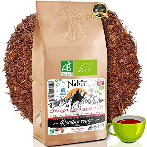 Nabür - Rooibos Tè Rosso Organico 200Gr ⭐ Roibos Ricco, Delicato, Rilassante, Certificato Organico ⭐ Sud Africa, 0% Teina ⭐ PREZZO D'INGRESSO